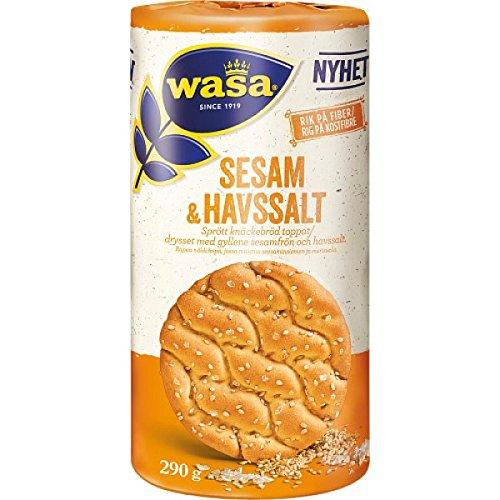 Wasa Sesam & Havssalt 290 G - Rundes Knäckebrot Mit Sesam Und Meersalz