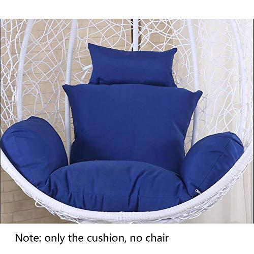 XGXQBS Swing Chair Pad dikke nest hangstoel zitkussen met kussen, comfort stoel kussen zonder standaard blauw