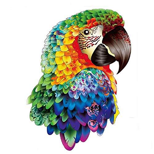 PRSTENLY Hölzerne Puzzles - Einzigartige Form Puzzleteile Erwachsene und Kinder Papageienpuzzles, am besten für Familienspielsammlung, 40 * 30 cm, 300 Teile, L.