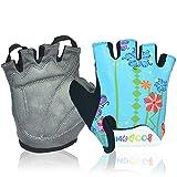 MIFULGOO Boy Girl Child Children Kid Padded Half Finger Fingerless Short Gloves Mitt Mitten for...
