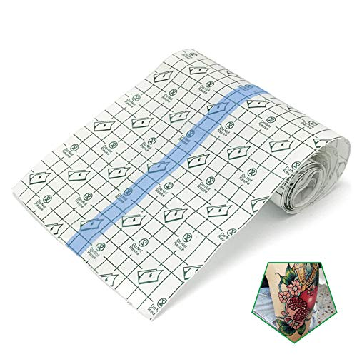 Tattoo Aftercare Bandage Roll 6'x 2 Yard - Waterproof Transparent Film For Tattoo Initial Healing And Skin Repair Adhesive Tattoo Supply Wrap