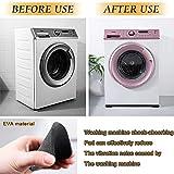 Chingde Waschmaschine Unterlage, 8 Stück Vibrationsdämpfer Schwingungsdämpfer Anti Vibration Pads Antivibrationsmatte Antirutschmatte für Waschmaschinen Kühlschränke Haushaltsgeräte - 4