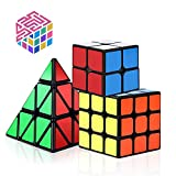 Speed Cube Set, Vdealen 2x2x2 3x3x3 Pyramid Speed Cube Magic Cube Puzzle Toys for All Age Challenge