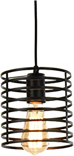 Lámparas Colgantes Industriales Modernos de la Vendimia Iron Art Metal Jaula Loft Lámpara Colgante,Montaje Retro a de Pantalla Lámparas,4.92ft Alambre Ajustable Para la Cocina,Sala de Estar