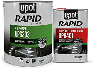 U-Pol 6303 Rapid System Primer Unique New Rapid Cure Technology Primer 1 Gallon Kit /W Hardener