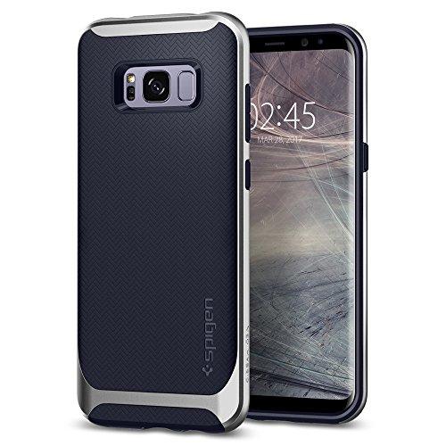 Spigen 571CS21652 Neo Hybrid für Samsung Galaxy S8 Plus Hülle, Zweiteilige Modische Muster Silikon & PC Rahmen Schutzhülle Case Silver Arctic