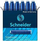 Schneider Fountain Pen Ink Cartridge, Blue Ink, Box of 6 (06603)