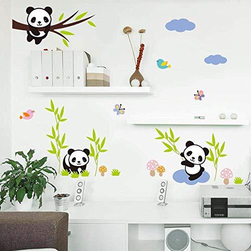Schöne Freche Baby Pandas China Wandaufkleber Kinder Geschenk Raum Wohnkultur Diy Tiere Abziehbilder Wandkunst Pvc Cartoon Poster