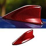 リアルカーボンファイバーカールーフシャークフィンアンテナ装飾カバートリムデカールスバルBRZトヨタ86スタイリングアクセサリー用-赤1個