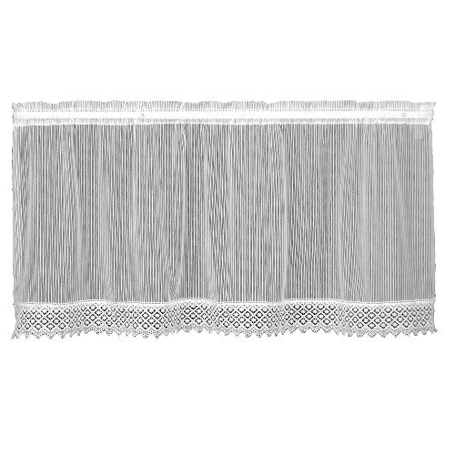 Heritage Lace Chelsea 48-Inch Wide by 30-Inch Drop Tier with Trim, White