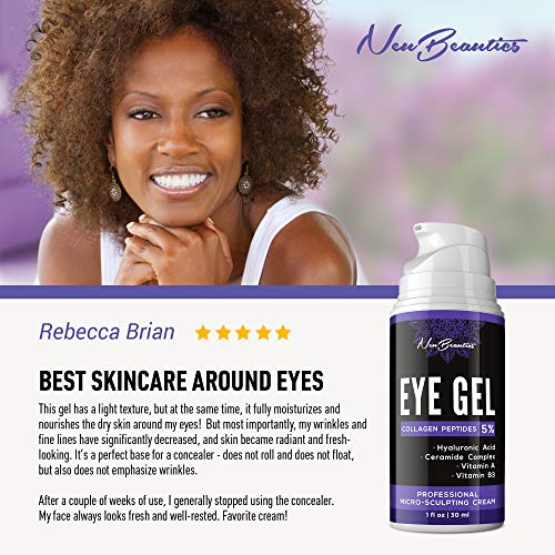 51M C7xTzcL - Micro-Sculpting Anti-Aging Eye Gel - Natural & Made in USA - Under Eye Cream for Dark Circles and Puffiness - Anti-Wrinkle & Fine Line Reduction Effect - Rich Wrinkle Cream for Puffy Eyes & Eye Bags