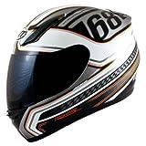 MT Revenge Indy - Casco de moto (talla XL), color blanco, gris y naranja