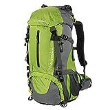 Lixada 45L + 5L Sac à DOS Avec Housse Imperméable Pour Sport Randonnée Trekking Camping Backpack Voyage Paquet Alpinisme Escalade