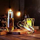 Amisglass Sektgläser Set, 6 stück, 300ml Champagner Gläser, klares Kristallglas, kristallklare Klarheit, Bleifrei & Hochwertig - 6