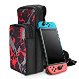 Should Bag Carry Back Pack Case for Nintendo for Switch Accessories Storage, Crossbody Bag Backpack for Travel Carrying