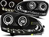 Paire de feux phares V- Golf 5 03-09 angel eyes led noir