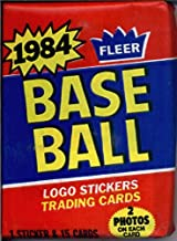 1 Unopened Pack of 1984 Fleer Baseball Cards (15 cards/pack) - Possible Rookies Of Don Mattingly, Darryl Strawberry and more!