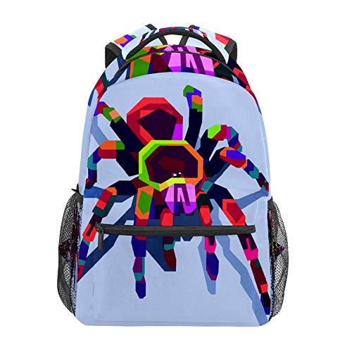 Schulrucksack Tarantel Art Nature Arachnid Casual Travel Laptop Daypack Canvas Buch Taschen für Damen Mädchen Jungen Student Erwachsene Herren