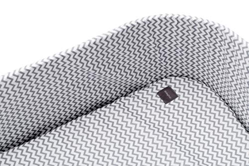 moKee Soft Seagrass Moses Basket Cotton Fitted Sheet, Chevron Grey