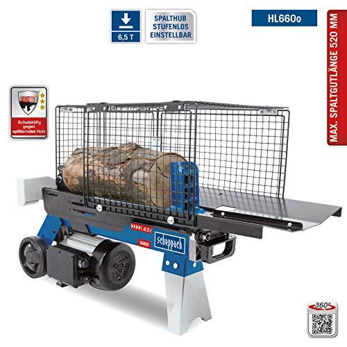 SCHEPPACH HL660o Hydraulikspalter Holzspalter bis 520 mm | 6,5 Tonnen Spaltkraft 6t | Brennholzspalter 230 V | Holzspalter stehend 2200 W