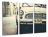 Cuadro Fotográfico Coche Antiguo Skoda, Coche Cuba, Coche Vintage Tamaño total: 97 x 62 cm XXL