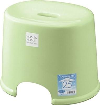 リス 風呂椅子 高さ 25cm パステルグリーン H&H『防カビ加工』 日本製