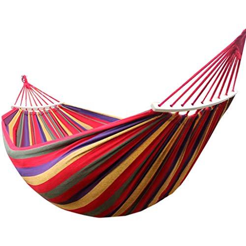 Camping Pourvoiries de, hamacs de Voyage Ultra-légers, hamac en Toile portative, lit de balançoire de Plage avec Arbre de Propagation en Bois Dur Suspendu à l'extérieur, lit d'intérieur
