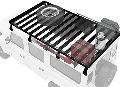 Techo, adecuado para autos de alta especificación (1983-2016) equipados con Land Rover Defender 110, lo que aumenta el espacio de almacenamiento en la parte superior del vehículo