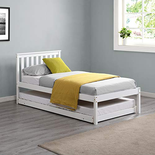 Cherry Tree Furniture Fairfield FSC-Certified Single Wooden Bed with Pop Up...