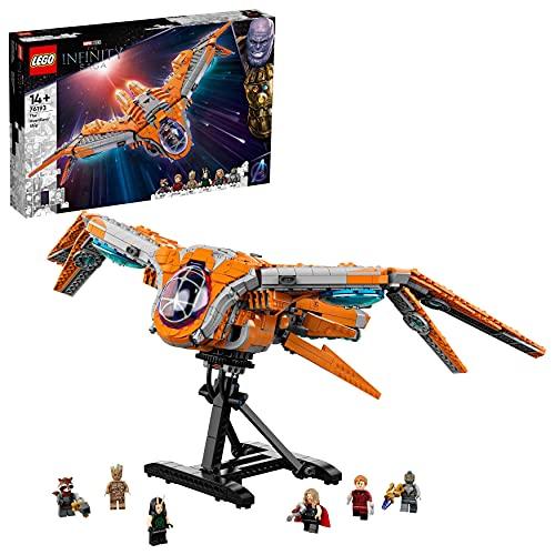 LEGO Super Heroes Marvel L'Astronave dei Guardiani, Giocattoli Avengers con le Minifigure di Thor e Star-Lord, 76193