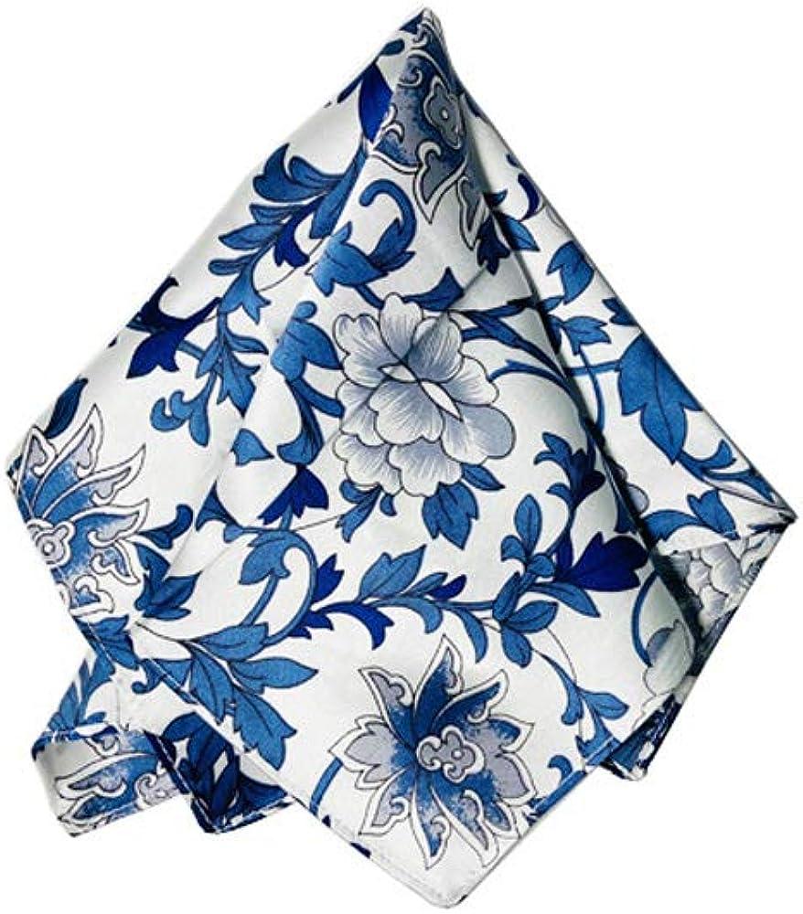 Bandana,handkerchief, hanky,silk cerpe satin with oriental art pattern