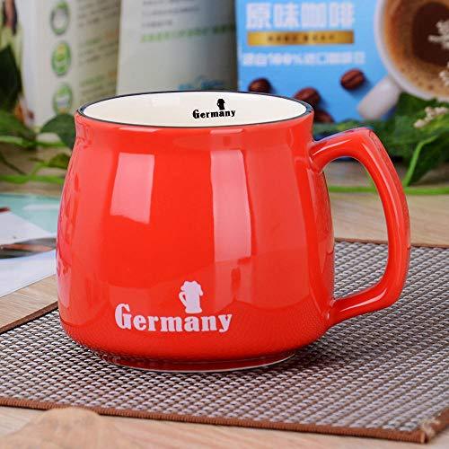 Taza De Agua Taza Nacional Grande Color Glaze Leche Taza De Café Logo Custom Coffee Cup-Germany_301-400Ml