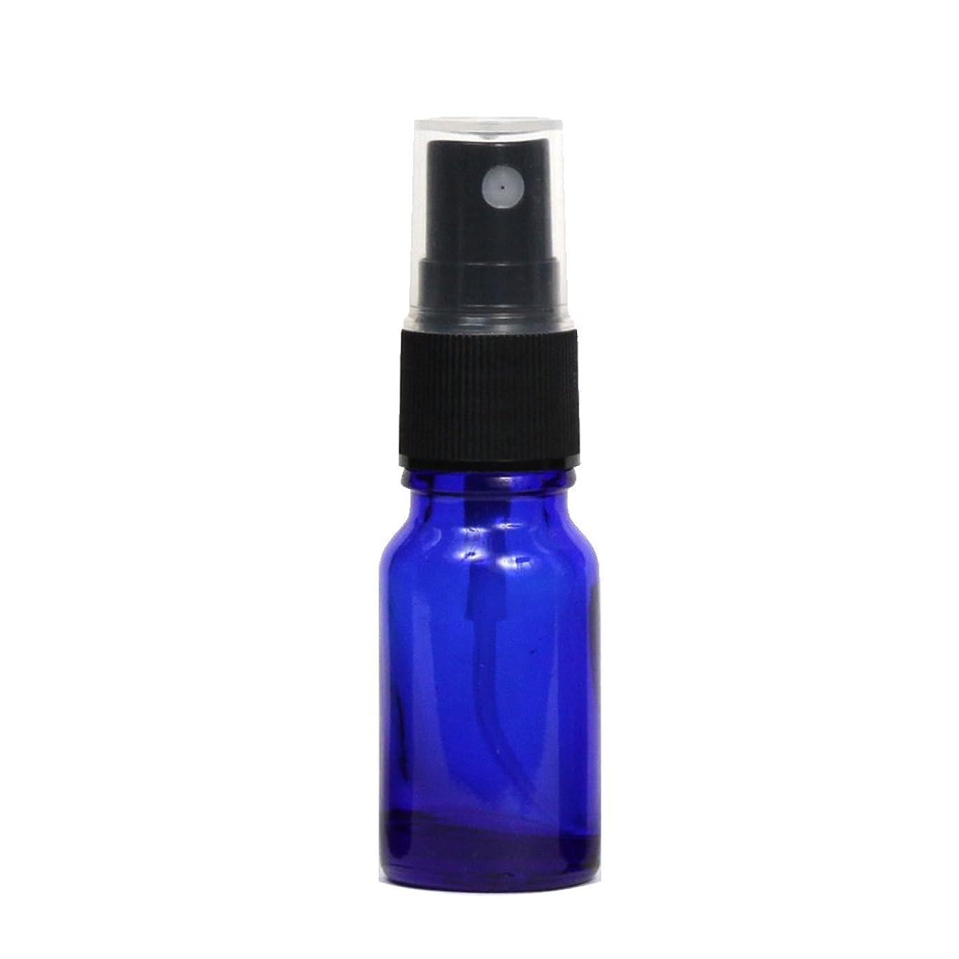 暫定気候の山マリンスプレーボトル ガラス瓶 10mL 遮光性ブルー ガラスアトマイザー 空容器