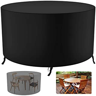 Garden Furniture Covers - Upgrade Patio Table Cover,420D Heavy Duty Oxford Fabric Rattan Furniture Cover with 4 Windproof ...