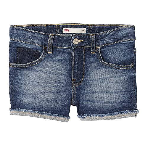 Levi's Kids Mädchen Nn26547 Short Badeshorts, Blau (Indigo 46), 14 Jahre (Herstellergröße: 14Y)
