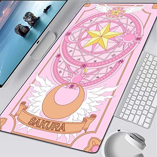 JIACHOZI Almohadilla De Teclado De Computadora 800 X 300 X 3 mm Varita Mágica De Dibujos Animados Rosa Escritorio De Gran Tamaño Tapete Para Escritorio De Computadora Antideslizante Y Duradero Muy Ade