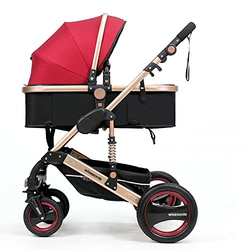 Why Should You Buy High Landscape Fold Baby Stroller, 2 in 1 Baby Carriage with Rubber Wheel, Good S...