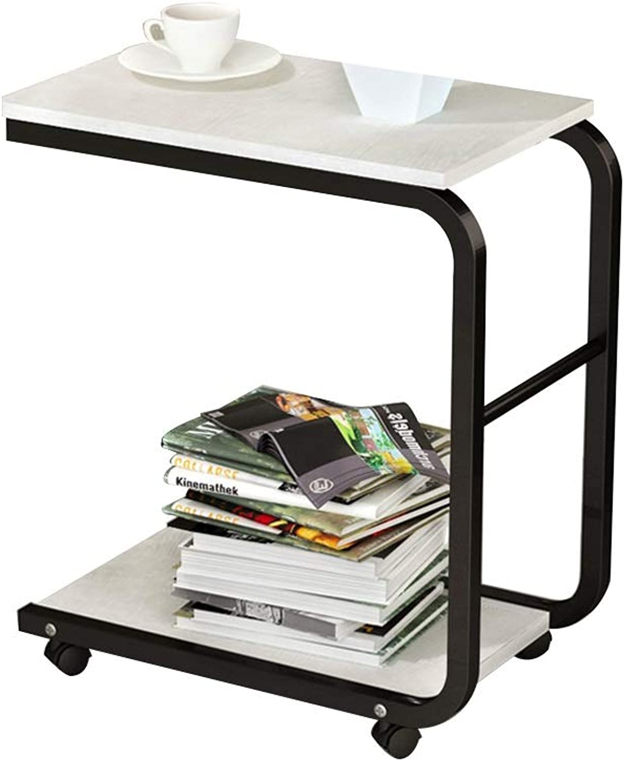 Coffee Table Side Table, Practical Multifunctional Mobile Small Coffee Table for Bedroom Living Room