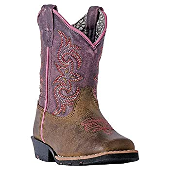Dan Post Boots Toddler Girls Tryke Square Toe Western Cowboy Dress Boots Mid Calf - Brown - Size 8 M