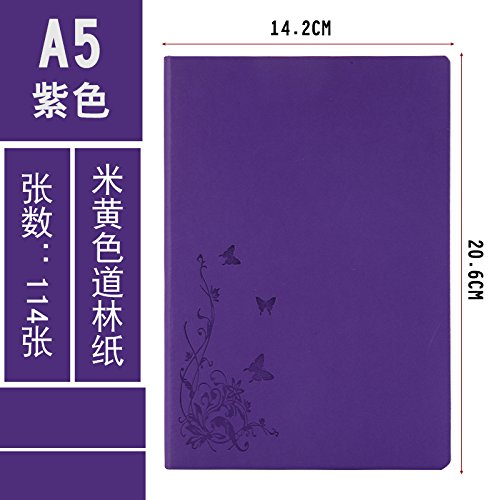 XIAOXINYUAN Notebook Stationery Office Fornisce Il Blocco Note Diario Di Business Notebook Addensante. Violetta