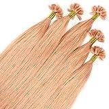 Just Beautiful Hair 200 x 0.8g REMY Extensiones de queratina - 40cm, colore #fucsia,...
