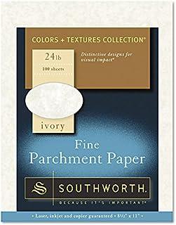 $21 » Southworth P984CK336 Parchment Specialty Paper, Ivory, 24lb, 8 1/2 x 11, 100 Sheets