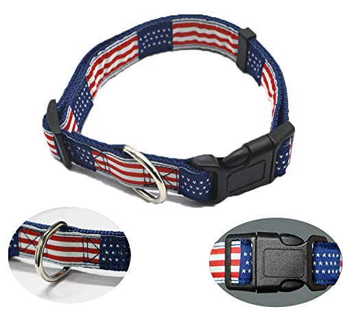 UnisonPet Small Puppy Collar for Dog, Tactical Dog Collar, Boy Dog Collar, 3/4' Width 10-14' Length Adjustable Heavy Duty Dog Collars, Best Dog Collar for Small Dogs Male or Female