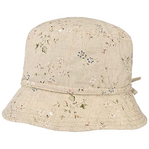 LIPODO Sombrero de Tela Flowers Mujer - Lino Sol Verano Primavera/Verano - S (55-56 cm) Beige