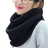 Topdo - Bufanda de lana para mujer, color liso, gruesa, para primavera, invierno, elegante...