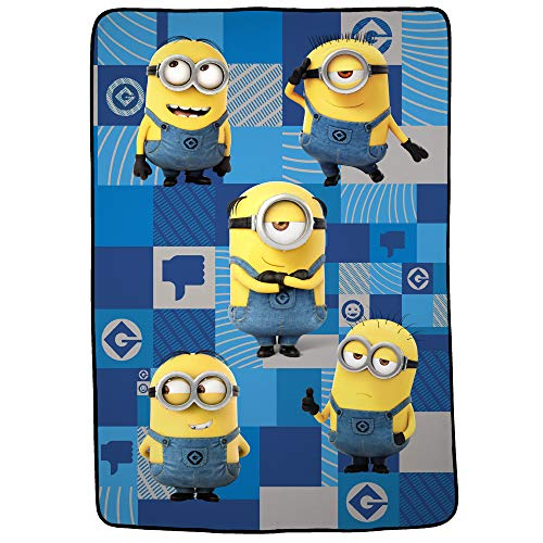 "Franco Kids Bedding Super Soft Blanket, Twin/Full Size 62"" x 90"", Despicable Me Minions"