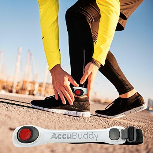 AccuBuddy LED Armband – Hell Leuchtendes Jogging Licht und Sicherheitslicht für alle Outdoor Sportarten - 6