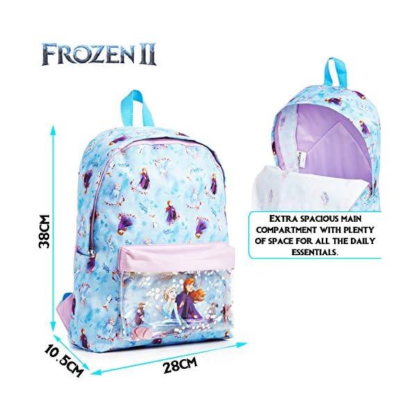 51M JwRxL2L. SS600  - Disney Frozen 2 Mochila Escolar Infantil Para Niñas Adolescentes, Princesas Disney Anna Elsa, Mochilas Escolares Juveniles Bolsillo Delantero Confeti Brillante, Regalos Para Niños Colegio Viaje
