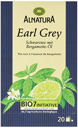 Alnatura Bio Earl Grey, 20 Beutel, 6er Pack (6 x 35 g)