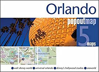 Orlando PopOut Map: Handy pocket size pop up map of Orlando and Walt Disney World Resort
